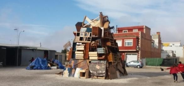 Aspecto de la falla en construcción. Public Domain.