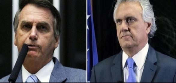 Bolsonaro e Caiado (direita): apoia esta chapa?