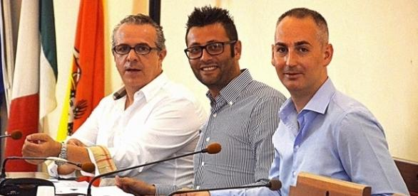 I consiglieri comunali Ferrero, Pintaldi e Rosa