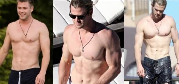 Chris Hemsworth showing off his superhero body / Via extreme fitness lifestyle Facebook