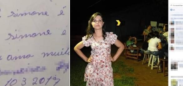 Na casa onde o corpo foi encontrado, peritos localizaram foto em cujo verso estava escrito frases como 'eu a amo'.