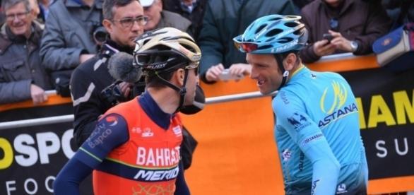 Nibali con l'ex compagno di squadra Scarponi