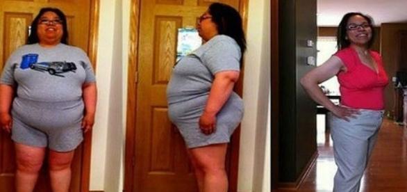 Ela bebeu está bebida e perdeu metade do seu peso em 3 meses.