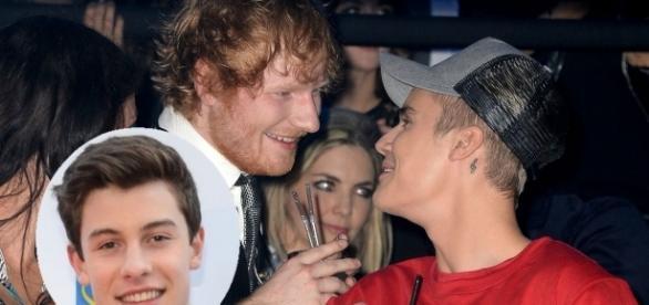 Ed Sheeran falou sobre 'dar uns pegas' em Justin Bieber e Shawn Mendes