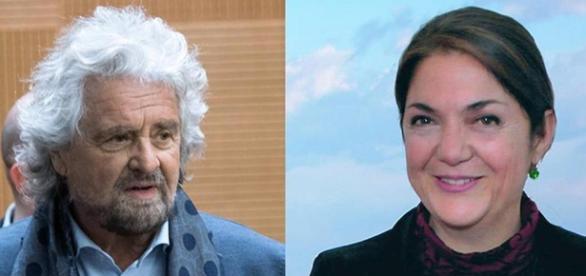 Beppe Grillo e Marika Cassimatis.