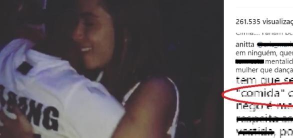 """Anitta aparece em postagem de Nego do Borel, recebe uma ofensa e """"enquadra"""" fã"""