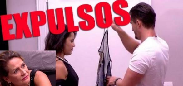 Briga entre Emilly e Marcos com a idosa Ieda por acabar em expulsão. Foto/Reprodução: Globo.com