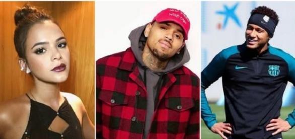 Neymar não gostou nada de ver Chris Brown seguindo sua namorada no Instagram
