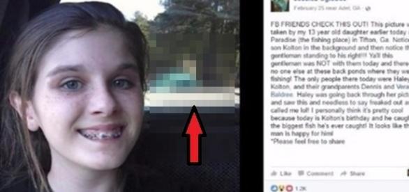 Menina fotografa fantasma sem querer ao tirar uma selfie.