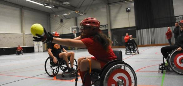 Softbol para cadeirantes na Bélgica (Foto: WBSC)