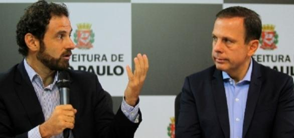 Caio Megale e prefeito João Dória