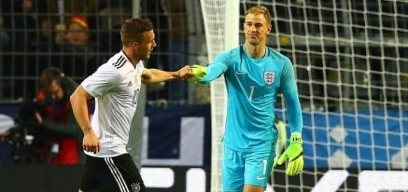 A show of respect for the retiring Lukas Podolski