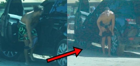 Cauã Reymond tira tudo no meio da rua e mostra só o que a Grazi viu; veja foto