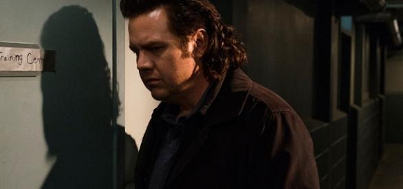 Eugene na base dos Salvadores em The Walking Dead