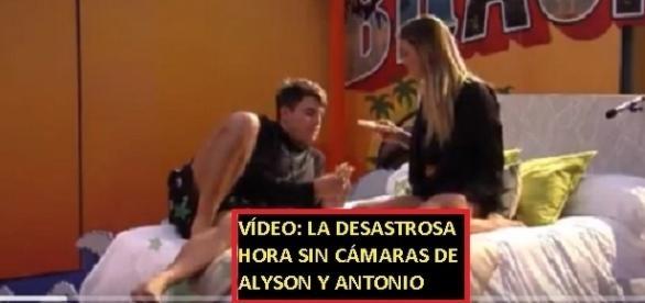 Todos los detalles de la hora sin cámaras de Aly y Antonio