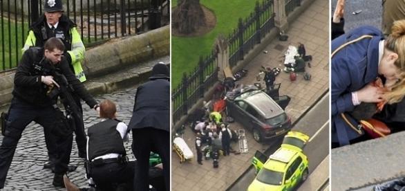 A polícia não sabe precisar quantas pessoas ficaram feridas no local.