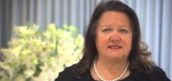 Gina Rinehart is Australia's richest woman again/Photo via Sydney Mining Club, YouTube