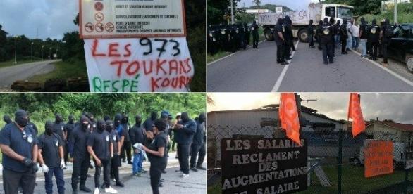 Les manifestations ankylosent l'ensemble du département depuis quelques jours (via Guyane 1ère)