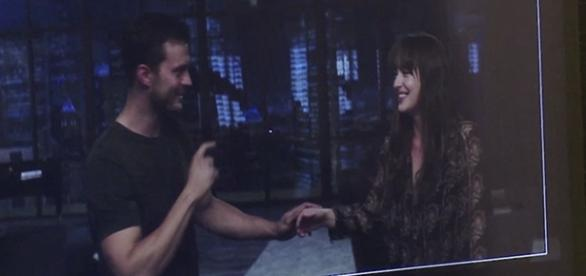 Os atores Jamie Dornan e Dakota Johnson