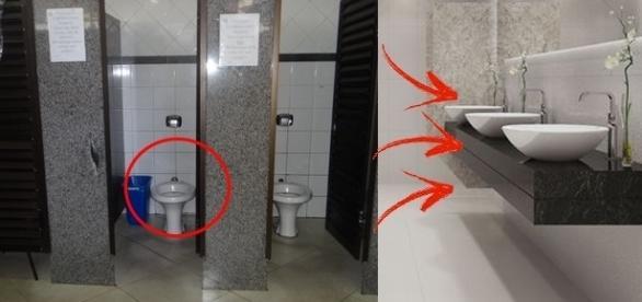 Tome muito cuidado ao usar um banheiro público
