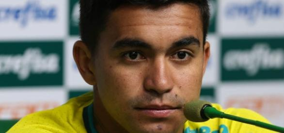 Dudu, atacante do Palmeiras, em coletiva.