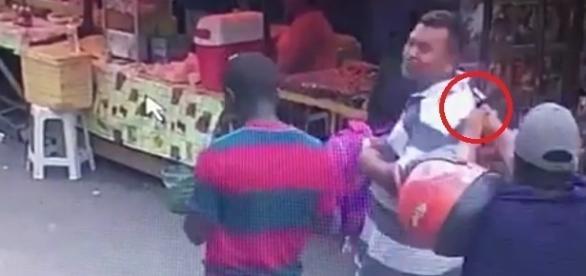 O homem foi atingido durante uma feira livre em município do estado.