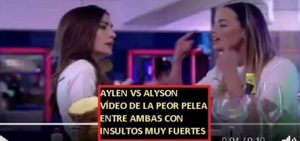 Vídeo de la grave pelea entre Aylen y Aly por la que podrían ser sancionadas