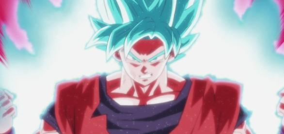 Goku expulsa todo su poder en el episodio 82.