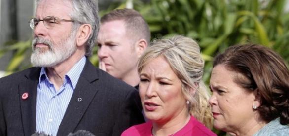 Michelle O'Neill with Sinn Féin leader Gerry Adams - irishnews.com