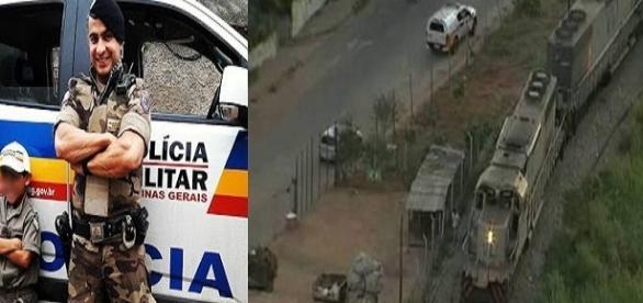 Policial Militar morre atropelado por um trem em perseguição policial.