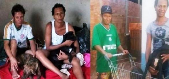 Casal pobre viaja mais de 80 km