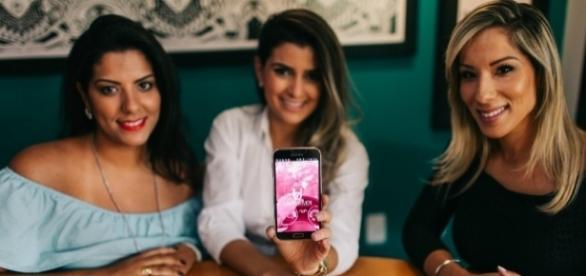 """Da esquerda para direita: Raquel Correa, Bianca Saad e Gabriela Correa, sócias do Lady Driver, o """"uber"""" para mulheres (Foto: revistapegn)"""