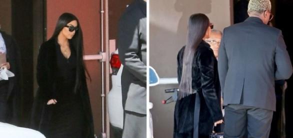 Kim Kardashian foi ao funeral do primo