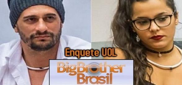 """""""BBB 2017"""" resultado da enquete UOL desta segunda entre Daniel e Emilly"""