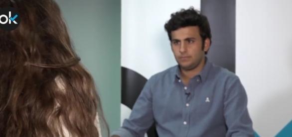 Jaime Acero durante una de sus entrevistas.