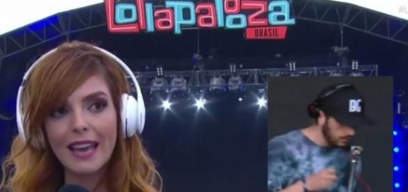Repórter bateu de frente com DJ famoso
