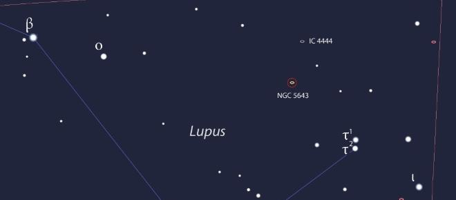 Supernova in the constellation Lupus so bright as to be seen with a telescope