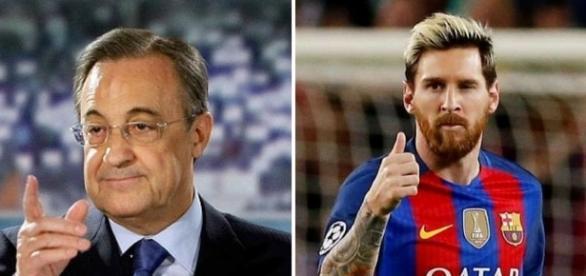 Florentino Pérez y Leo Messi...