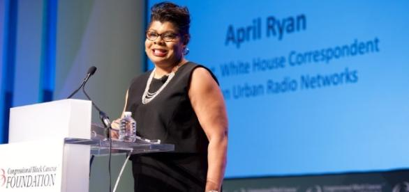 IMAGE: Journalist April Ryan. Image from EARL GIBSON III/GETTY