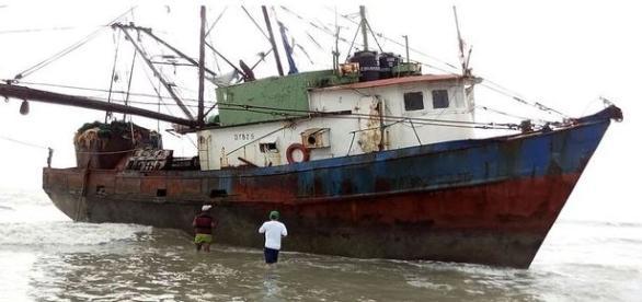Pescadores foram os primeiros e entrar no navio (Vimarense)
