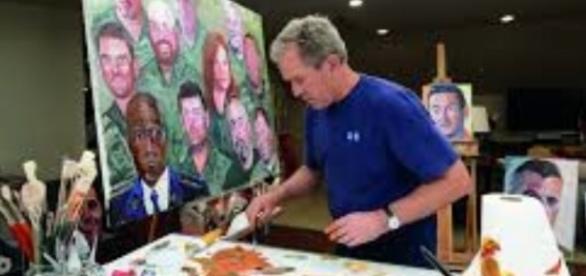 President Bush painting FAIR USE news.artnet Creative Commons