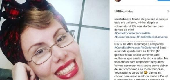 """Sarah Sheeva faz campanha para mulheres """"deixarem de ser cachorra"""" (Foto/Reprodução: Instagram)"""