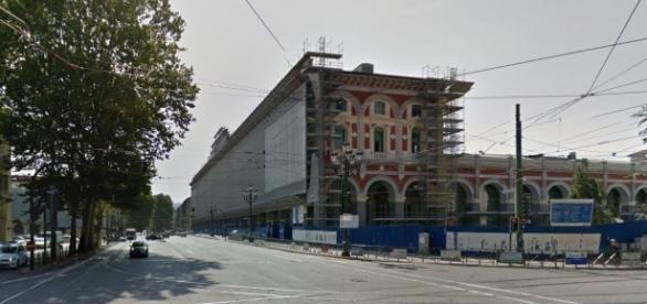 La stazione di Torino Porta Nuova durante i lavori di ristrutturazione.