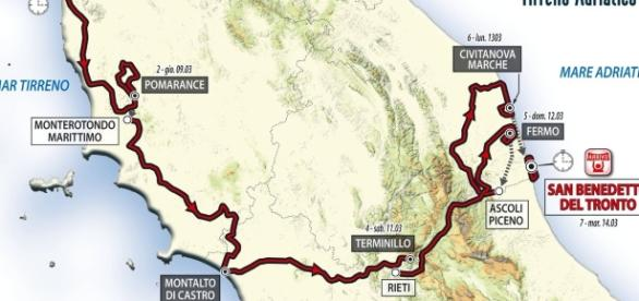 Tirreno-Adriatico 2017, percorso e anticipazioni diretta Rai, le info