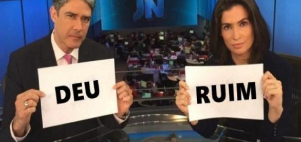 William Bonner e Renata Vasconcelos no 'Jornal Nacional'