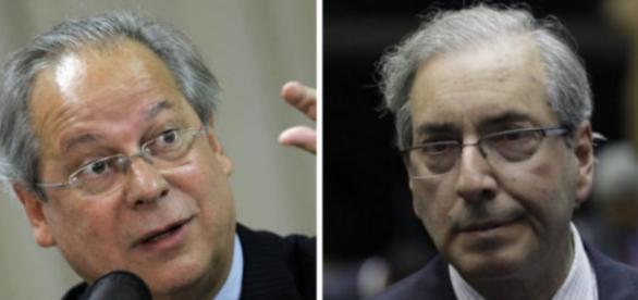 José Dirceu e Eduardo Cunha se tornam amigos do peito, na prisão