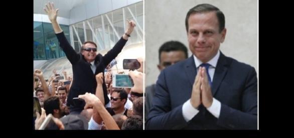 Bolsonaro e Doria se encontram pela primeira vez
