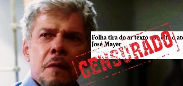 Censura? Folha tira texto que acusa José Mayer de assédio e motivo impressiona