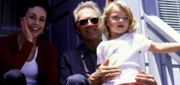 Clint Eastwood com Francesca, em criança