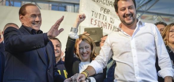 Gli alleati del centrodestra Berlusconi Meloni e Salvini